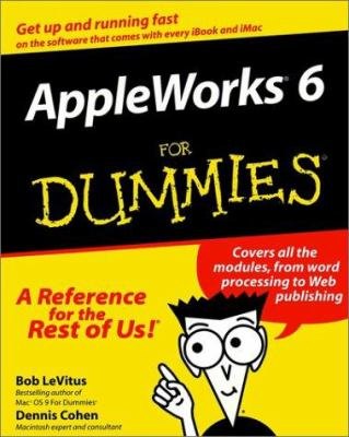 Cover image for AppleWorks 6 for dummies / by Bob LeVitus and Dennis Cohen.