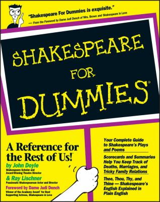 Cover image for Shakespeare for dummies