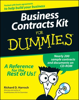Cover image for Business contracts kit for dummies