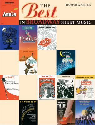 Cover image for The best in Broadway sheet music.