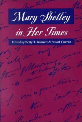 Cover image for Mary Shelley in her times