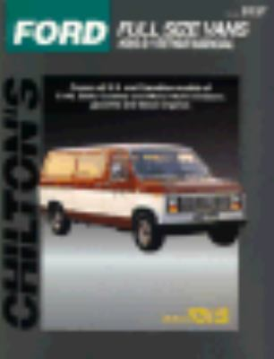 Cover image for Chilton's Ford full size vans, 1989-91 repair manual