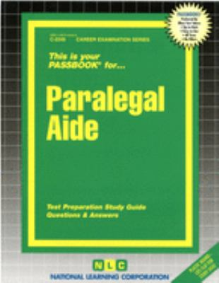 Cover image for This is your passbook for paralegal aide.