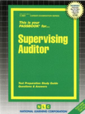 Cover image for Supervising auditor.