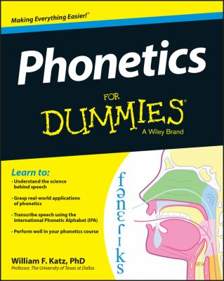 Cover image for Phonetics for dummies