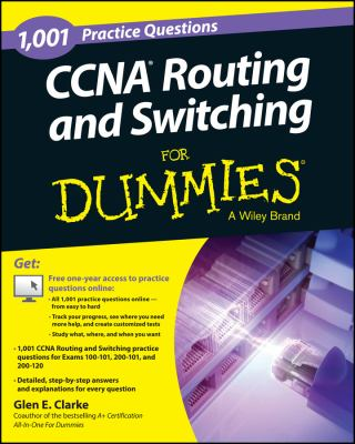 Cover image for 1,001 CCNA routing and switching practice questions for dummies