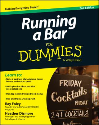 Cover image for Running a bar for dummies