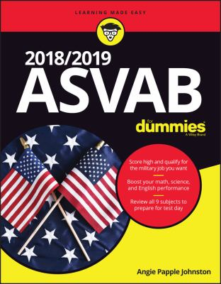 Cover image for 2018/2019 ASVAB for dummies