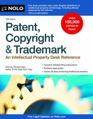 Cover image for Patent, copyright & trademark