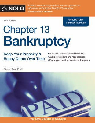 Cover image for Chapter 13 bankruptcy : keep your property & repay debts over time