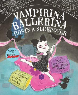 Cover image for Vampirina ballerina hosts a sleepover