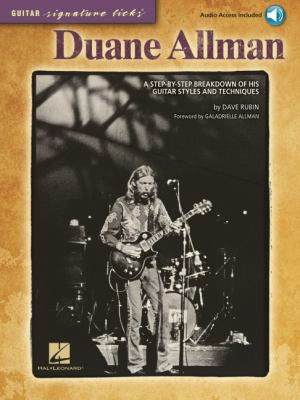 Cover image for Duane Allman : a step-by-step breakdown of his guitar styles and techniques