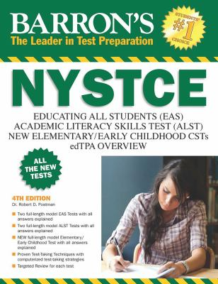 Cover image for Barron's NYSTCE EAS, ALST, multi-subject CST, overview of the edTPA