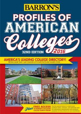 Cover image for Barron's profiles of American colleges 2016