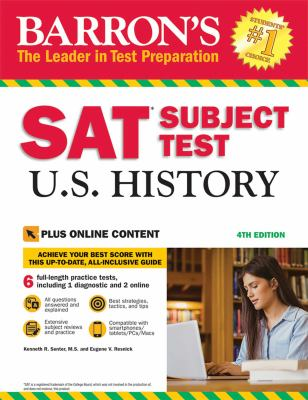 Cover image for SAT Subject Test. U.S. history