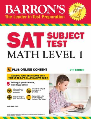 Cover image for Barron's SAT subject test. Math level 1