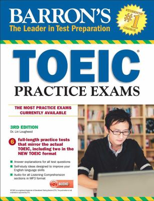 Cover image for Barron's TOEIC practice exams