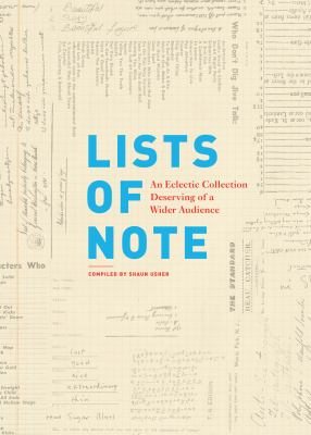 Cover image for Lists of note : an eclectic collection deserving of a wider audience
