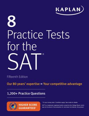 Cover image for 8 practice tests for the SAT.