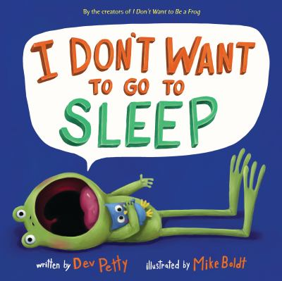 Cover image for I don't want to go to sleep