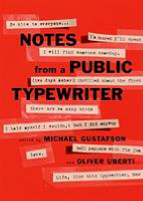 Cover image for Notes from a public typewriter