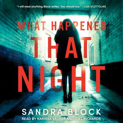 Cover image for What happened that night : a novel