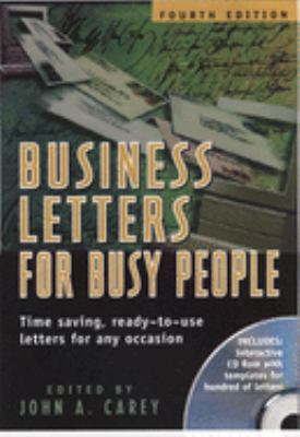 Cover image for Business letters for busy people : time saving, ready-to-use letters for any occasion