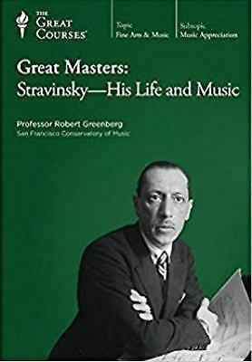 Cover image for Great masters. Stravinsky, his life & music