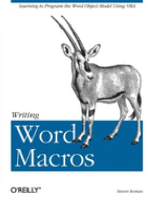 Cover image for Writing Word macros