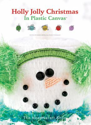 Cover image for Holly jolly Christmas in plastic canvas