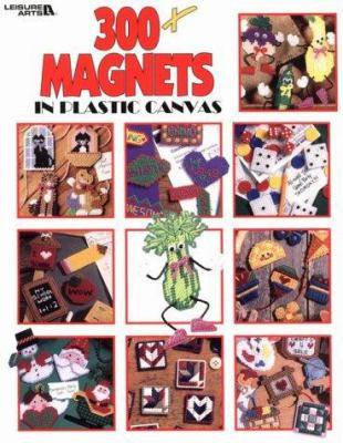 Cover image for 300+ magnets in plastic canvas.