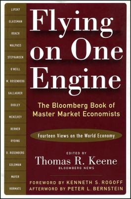 Cover image for Flying on one engine : the Bloomberg book of master market economists : fourteen views on the world economy