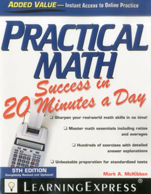 Cover image for Practical math success in 20 minutes a day