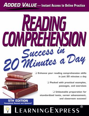 Cover image for Reading comprehension success in 20 minutes a day.