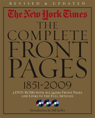 Cover image for The New York times : the complete front pages, 1851-2009