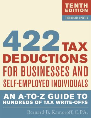 Cover image for 475 tax deductions for businesses and self-employed individuals : an A-to-Z guide to hundreds of tax write-offs