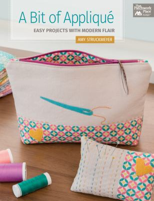 Cover image for A bit of appliqué : easy projects with modern flair