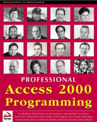 Cover image for Professional Access 2000 programming