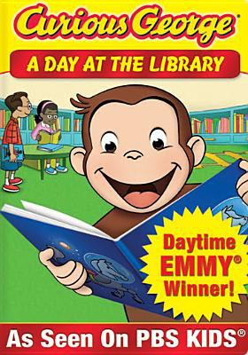 Cover image for Curious George. A day at the library