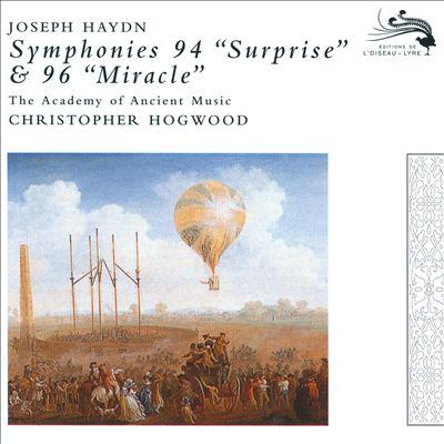 "Cover image for Symphonies 94 ""Surprise"" & 96 ""Miracle"""