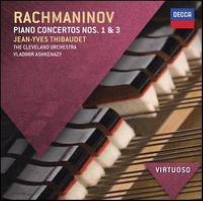 Cover image for Piano concertos nos. 1 & 3