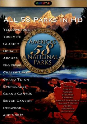 Cover image for America's 58 national parks. Yellowstone