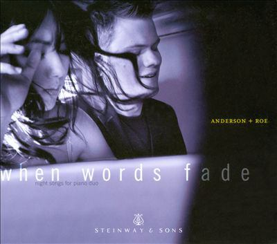 Cover image for When words fade night songs for piano duo