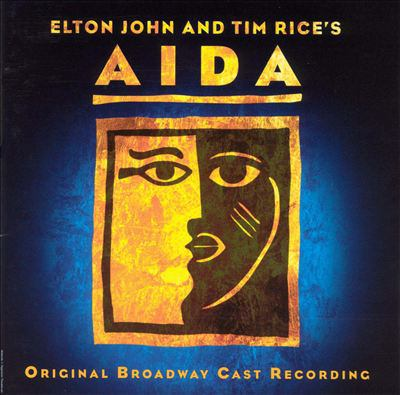Cover image for Elton John and Tim Rice's Aida original Broadway cast recording.