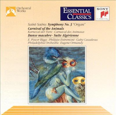 """Cover image for Symphony no. 3 in C minor, op. 78 """"Organ"""" Bacchanale ; Marche militaire française ; Danse macabre, op. 40 ; Carnival of the animals (chamber version)"""
