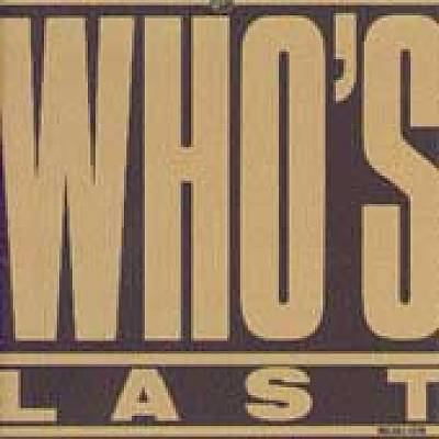 Cover image for Who's last