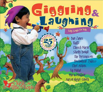 Cover image for Giggling & laughing silly songs for kids.