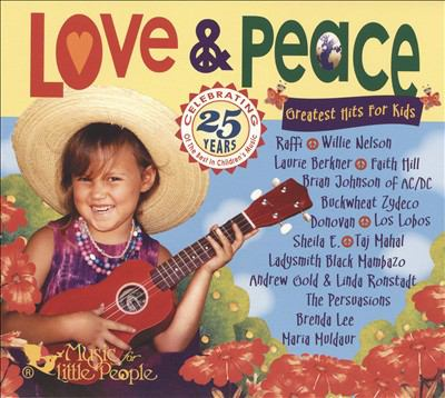 Cover image for Love & peace greatest hits for kids.