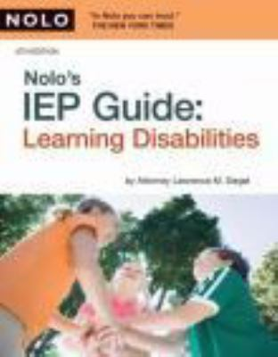 Cover image for Nolo's IEP guide learning disabilities