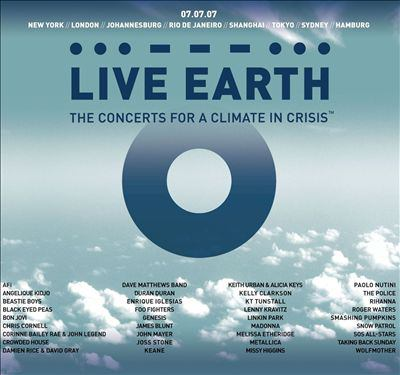 Cover image for Live Earth the concerts for a climate in crisis